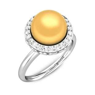 Bubbles of Brilliance Pearl Ring